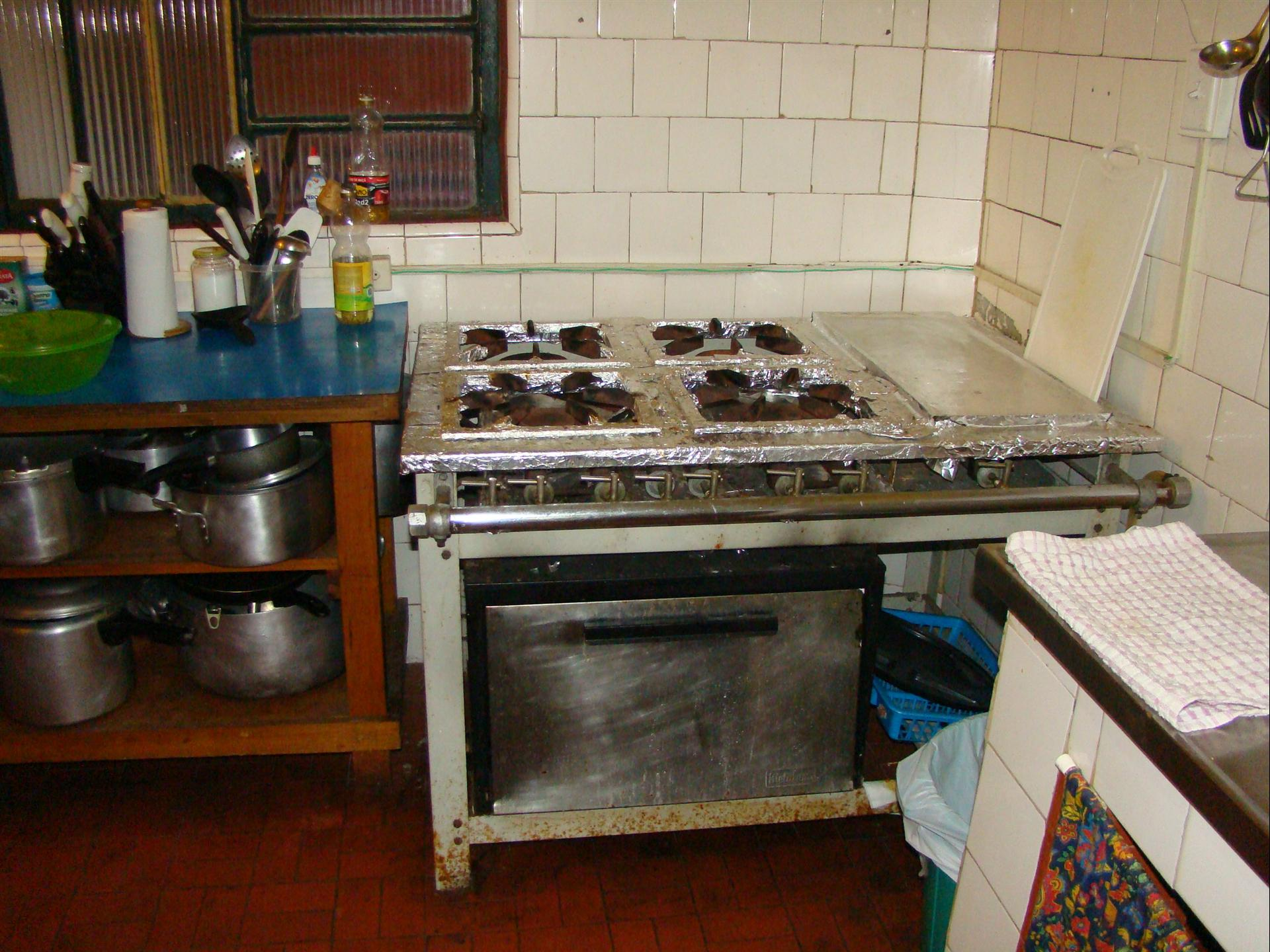 Kitchen in the American quarters